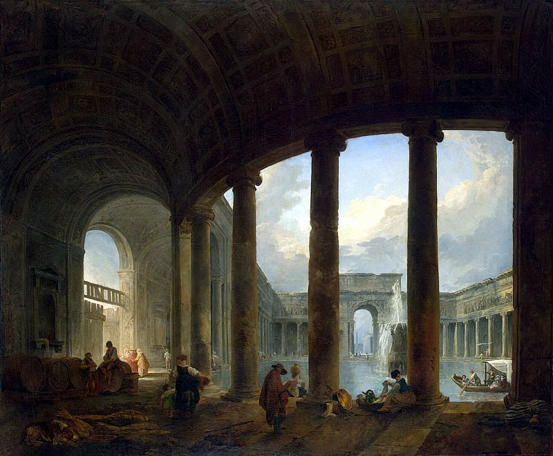 Robert, Hubert - Swimming pool, surrounded by a colonnade. Hermitage ~ part 10