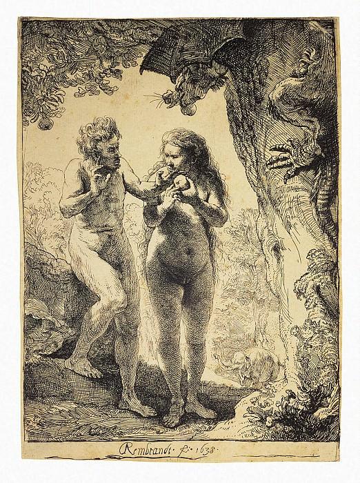 Rembrandt, Harmenszoon van Rijn - Adam and Eve. Hermitage ~ part 10