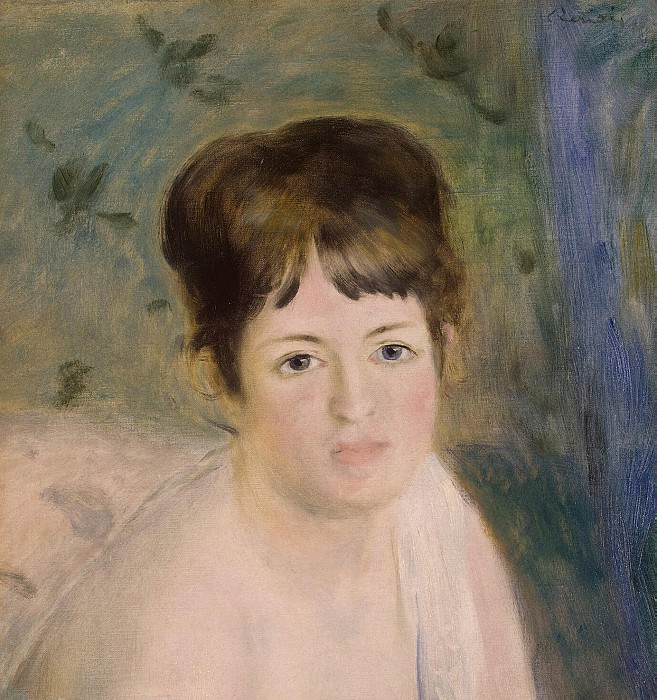 Renoir, Pierre-Auguste - Head of a Woman. Hermitage ~ part 10