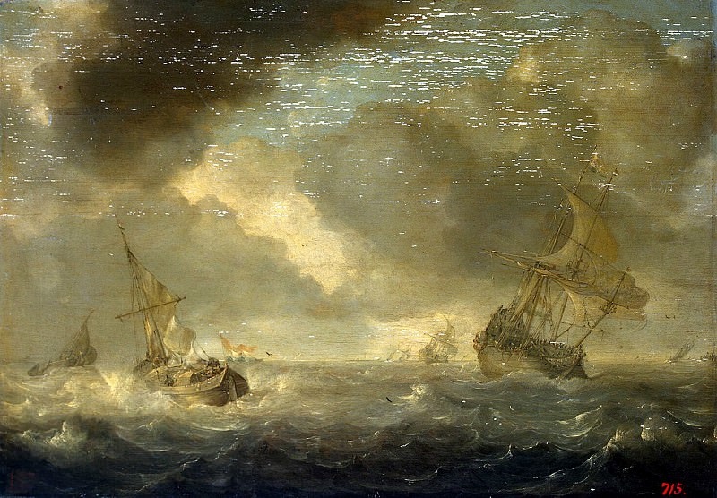 Porsellis, Ian - The sea with ships on a rainy day. Hermitage ~ part 10