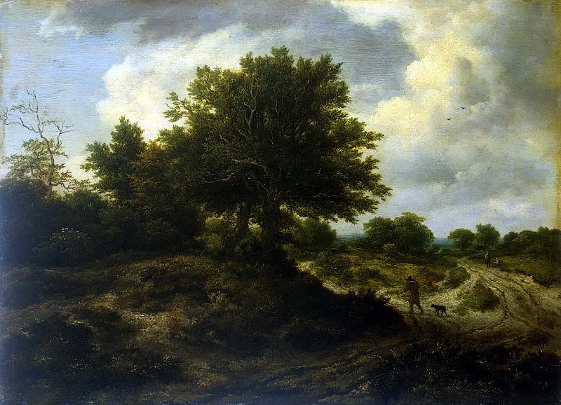 Ruisdael, Jacob van ai - Landscape with wayfarer. Hermitage ~ part 10