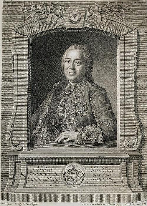 Radig, Antoine - Portrait of Count Nikita Ivanovich Panin. Hermitage ~ part 10