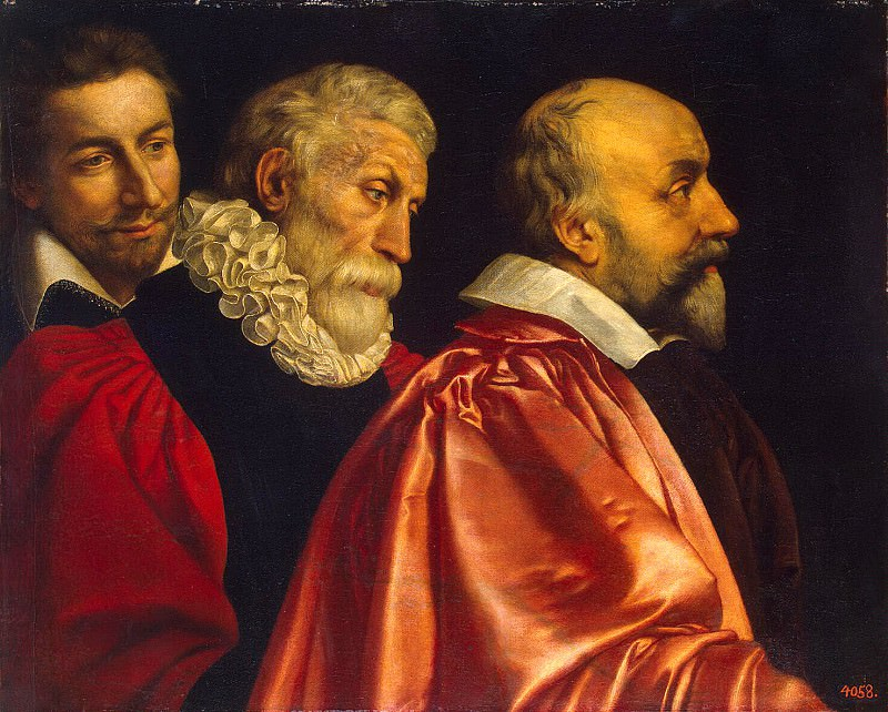 Pourbus, Frans the Younger - Group portrait of three advisers to the Paris magistrate. Hermitage ~ part 10