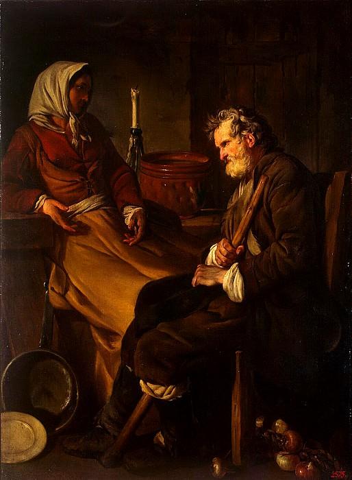 Pierre, Jean-Baptiste-Marie - Old man in the kitchen. Hermitage ~ part 10