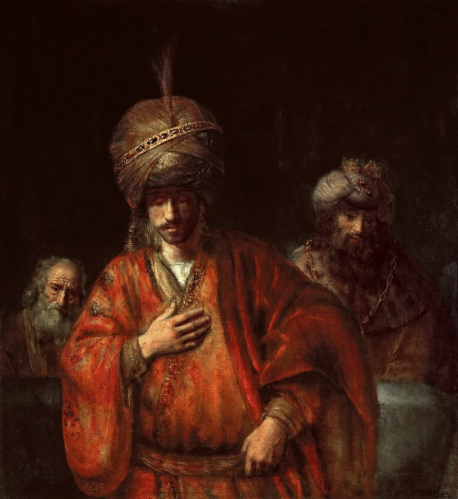 Amanda learns his fate (attr). Rembrandt Harmenszoon Van Rijn