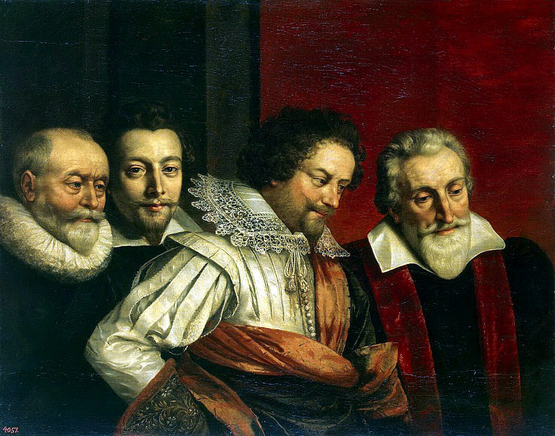Pourbus, Frans the Younger - Group portrait of four advisers to the magistrate Paris. Hermitage ~ part 10