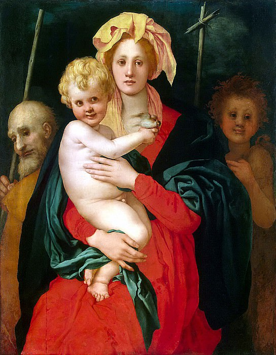 Pontormo, Jacopo Karuchchi - Madonna and Child, St. Joseph and John the Baptist. Hermitage ~ part 10