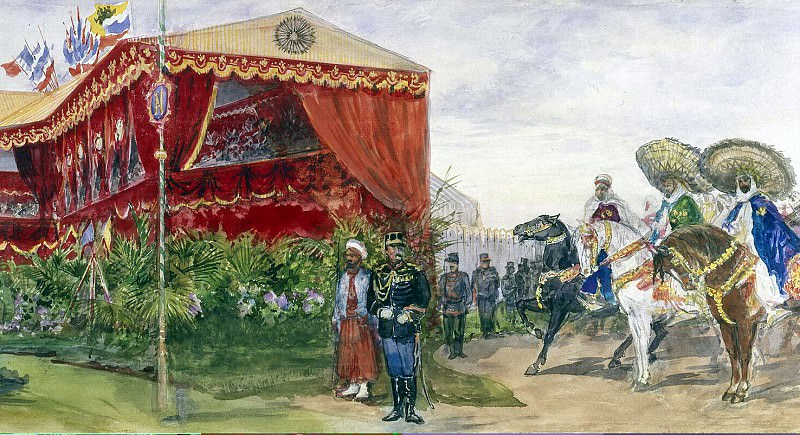 Piasecki, Pavel Ya - Arab cavalry near the podium for honorary guests. Hermitage ~ part 10