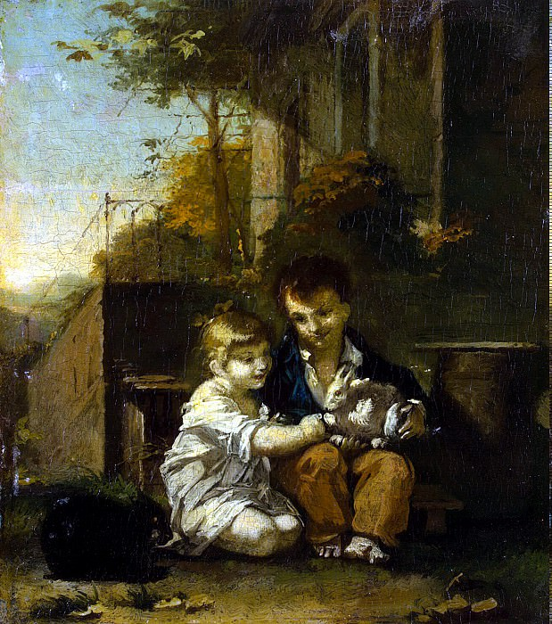 Prudhon, Pierre Paul - Children with rabbit. Hermitage ~ part 10
