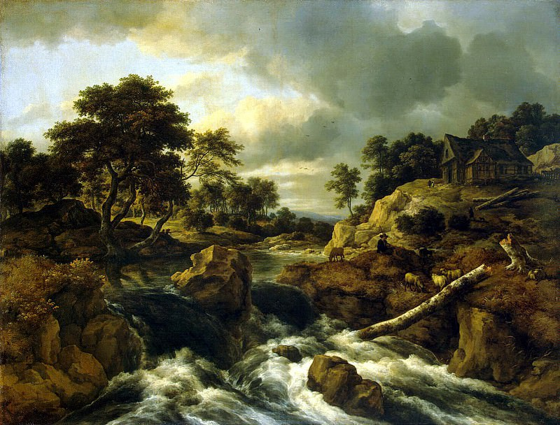 Ruisdael, Jacob van ai - Waterfall in Norway. Hermitage ~ part 10