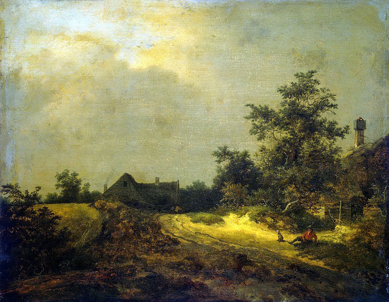 Ruisdael, Jacob van ai - Farmhouse in the dunes. Hermitage ~ part 10