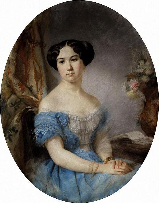 Robillard, Hippolyte - Portrait of Princess Irina Ivanovna Paskevych. Hermitage ~ part 10