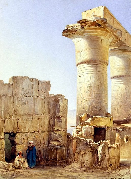 Perron, Charles - Street eastern city with the ruins of an Egyptian temple. Hermitage ~ part 10