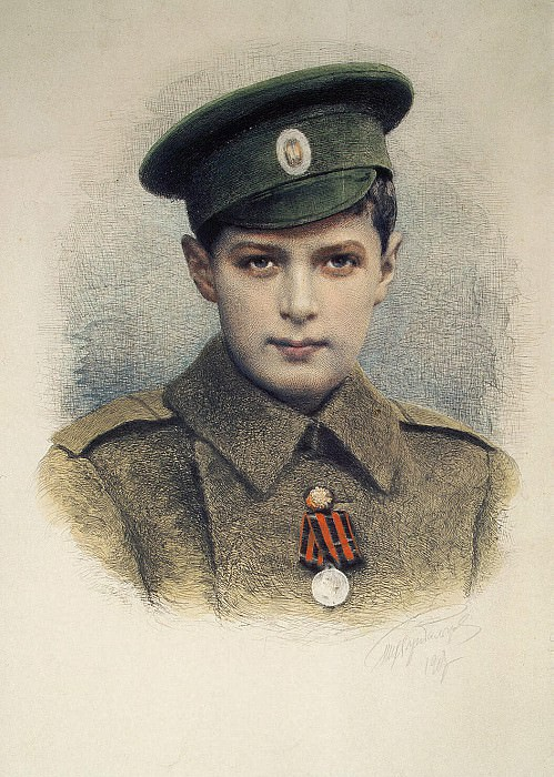 Rundaltsov, Mikhail Viktorovich - Portrait of an heir, Tsarevich Alexei Nikolaevich. Hermitage ~ part 10