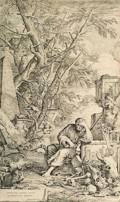 Rosa, Salvator - Democritus. Hermitage ~ part 10