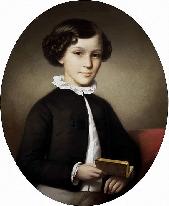 Robillard Hippolyte - Portrait of a Boy. Hermitage ~ part 10