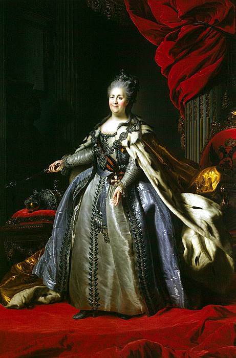 Rokotov, Fyodor Stepanovich - Portrait of Catherine II (3). Hermitage ~ part 10