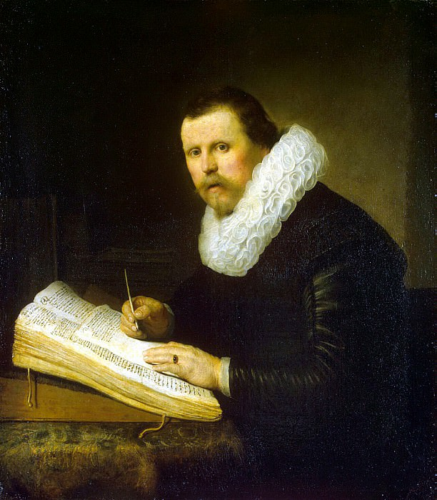 Rembrandt, Harmenszoon van Rijn - Portrait of a scientist. Hermitage ~ part 10