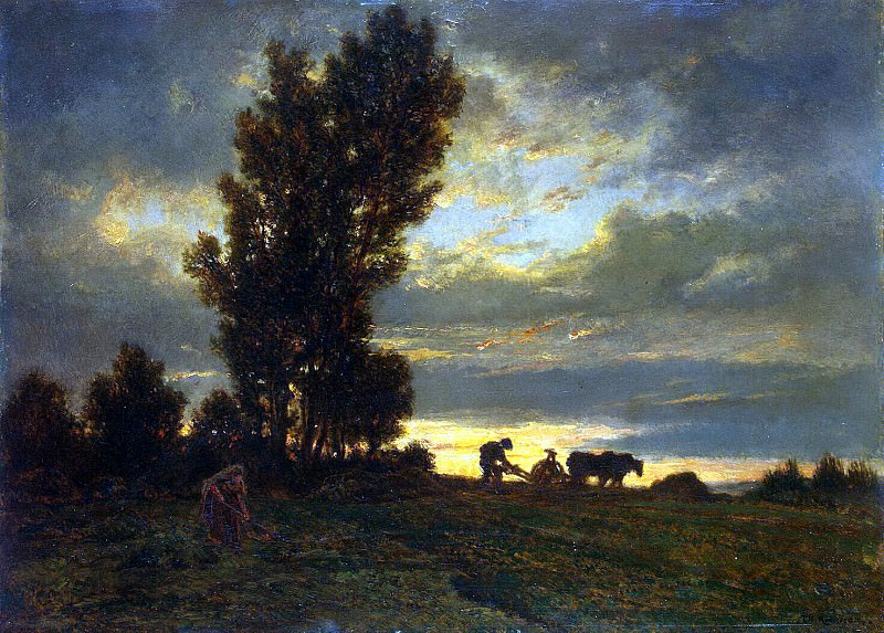 Rousseau, Theodore - Landscape with plowman. Hermitage ~ part 10