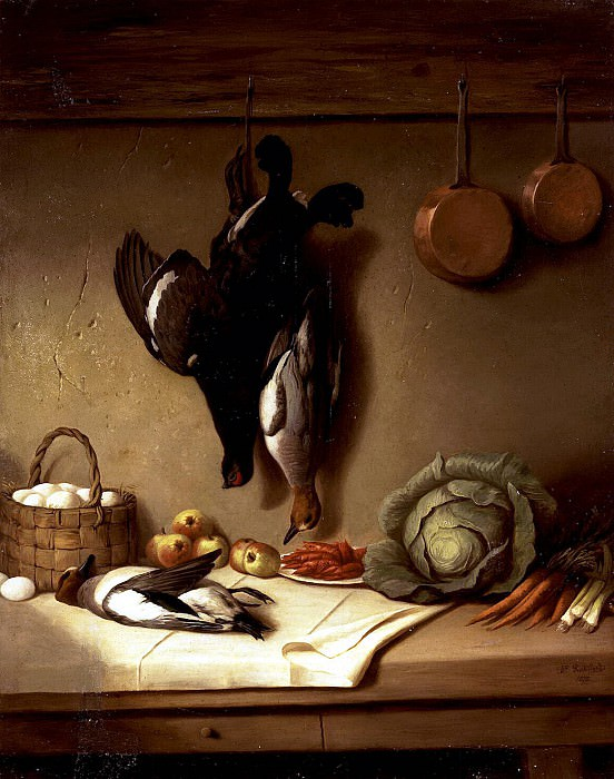 Robillard, Hippolyte - Still Life with a broken game. Hermitage ~ part 10