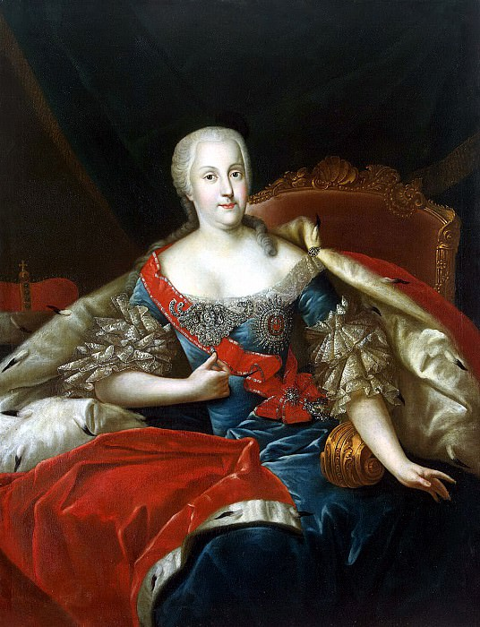 Peng, Antoine - Portrait of Princess Johanna Elizabeth of Anhalt-Zerbst. Hermitage ~ part 10