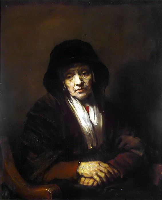 Rembrandt, Harmenszoon van Rijn - Portrait of an old woman. Hermitage ~ part 10