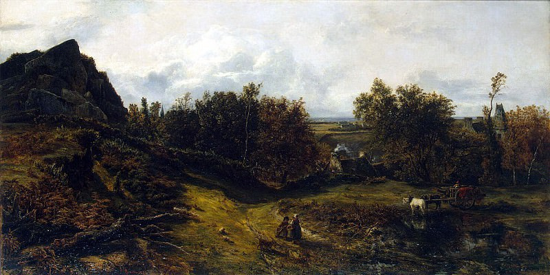 Rousseau, Theodore - Type in the vicinity of Granville. Hermitage ~ part 10