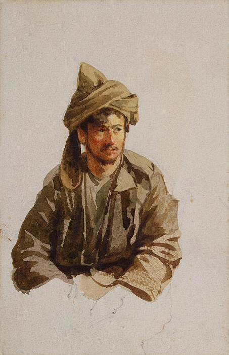 Premazzi, Luigi - Sitting mountaineer. Etude. Hermitage ~ part 10