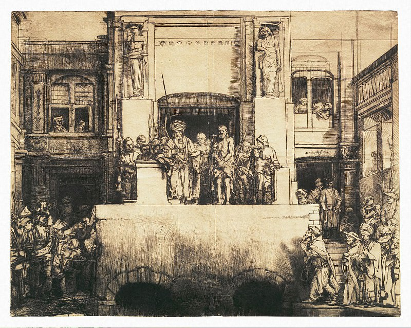 Рембрандт Харменс ван Рейн - Христос перед народом (2). Эрмитаж ~ часть 10