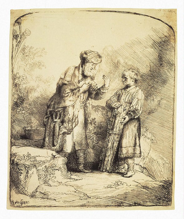 Rembrandt, Harmenszoon van Rijn - Abraham and Isaac. Hermitage ~ part 10