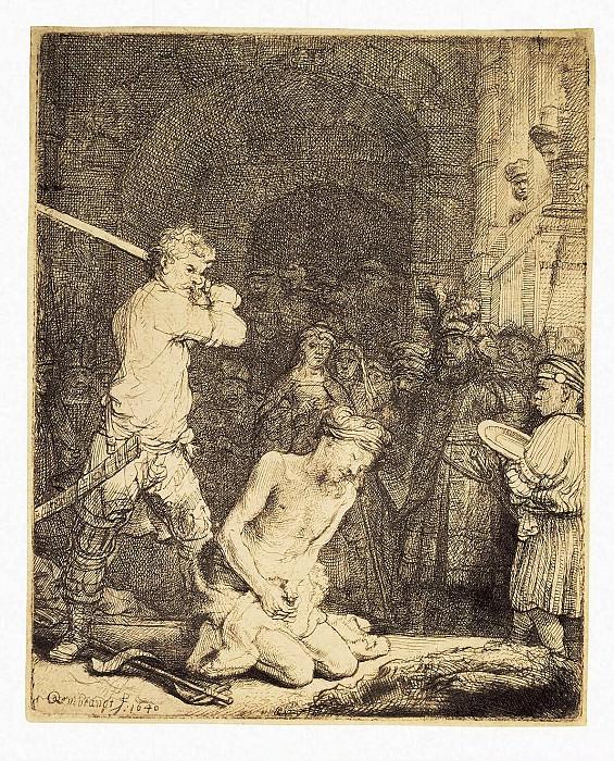 Rembrandt, Harmenszoon van Rijn - The Beheading of John the Baptist. Hermitage ~ part 10