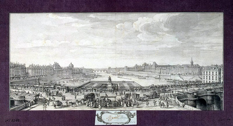 Rigaud, Jacques - View on the Seine from the Pont Neuf. Hermitage ~ part 10