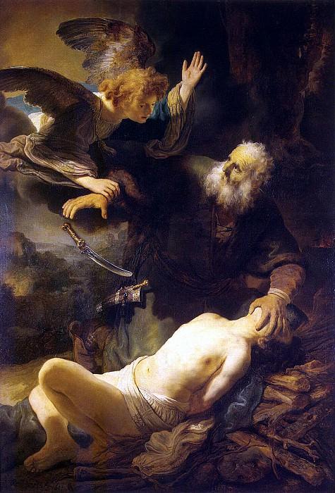 Rembrandt, Harmenszoon van Rijn - The Sacrifice of Abraham. Hermitage ~ part 10
