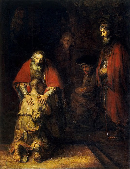 Rembrandt, Harmenszoon van Rijn - The Return of the Prodigal Son. Hermitage ~ part 10
