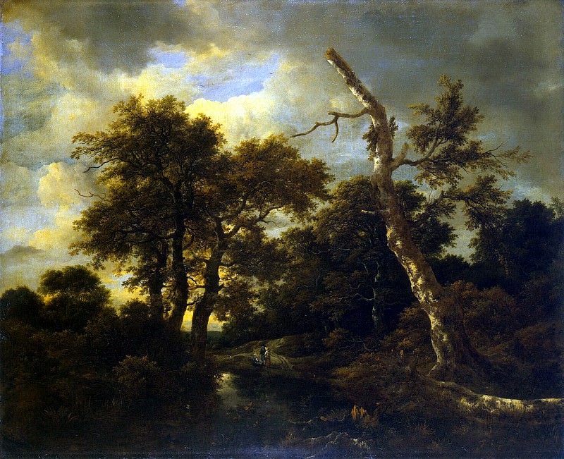 Ruisdael, Jacob van ai - The river in the woods. Hermitage ~ part 10