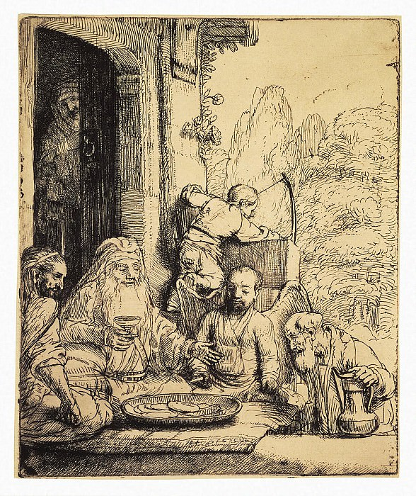 Rembrandt, Harmenszoon van Rijn - Abraham and three angels. Hermitage ~ part 10