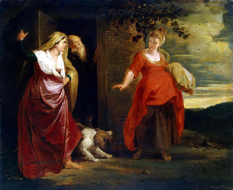 Care Hagar from Abrahams house. Peter Paul Rubens
