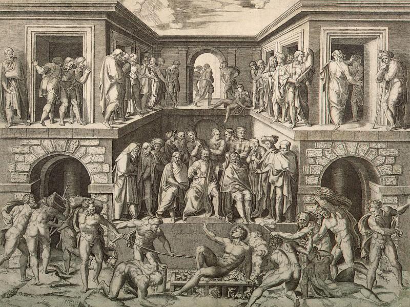 Raimondi, Marcantonio - The Martyrdom of St. Lawrence. Hermitage ~ part 10