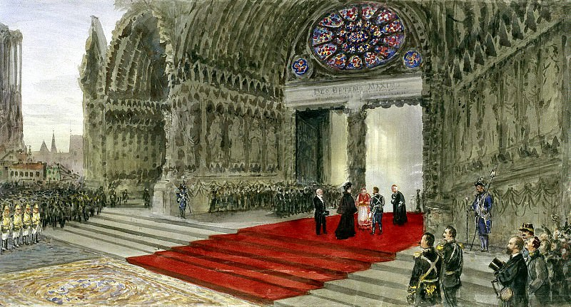 Piasecki, Pavel Ya - Visit the imperial couple of Reims Cathedral. Hermitage ~ part 10