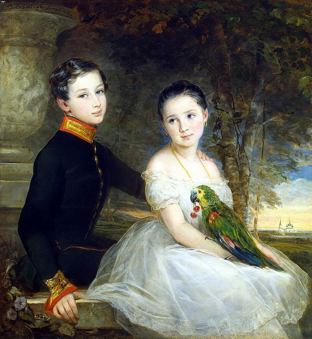 Robertson, Christina - Children with a Parrot. Hermitage ~ part 10