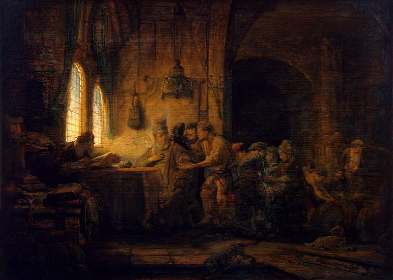 Rembrandt, Harmenszoon van Rijn - The Parable of the Labourers in the Vineyard. Hermitage ~ part 10