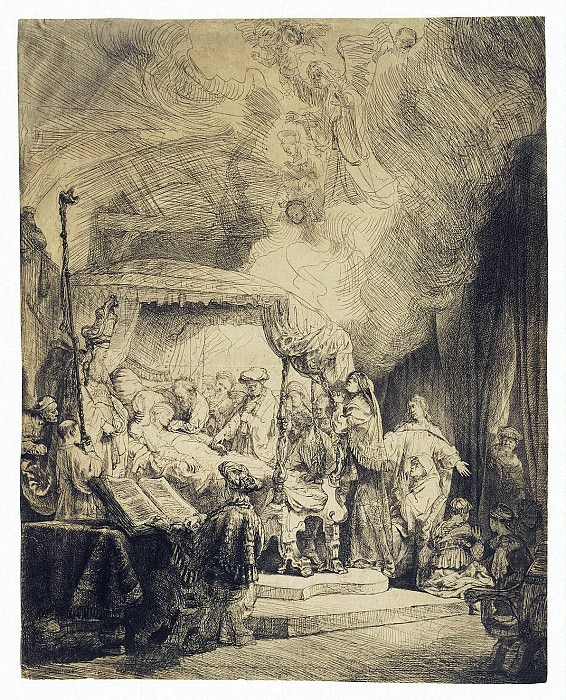 Rembrandt, Harmenszoon van Rijn - Death of the Virgin Mary. Hermitage ~ part 10