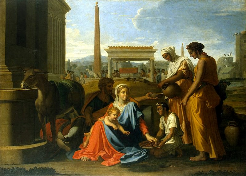 Poussin, Nicolas - The Holy Family in Egypt. Hermitage ~ part 10