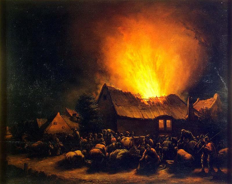 Poole, Egbert van der Leavens - Fire in the village. Hermitage ~ part 10
