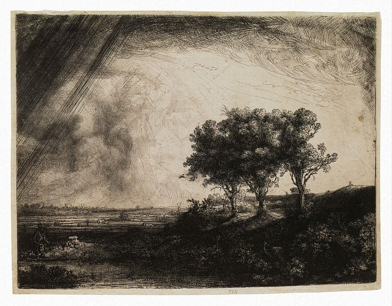 Rembrandt, Harmenszoon van Rijn - Three trees. Hermitage ~ part 10