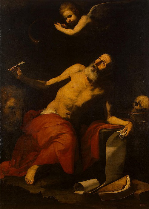 Ribera, José de - St. Jerome and the Angel. Hermitage ~ part 10