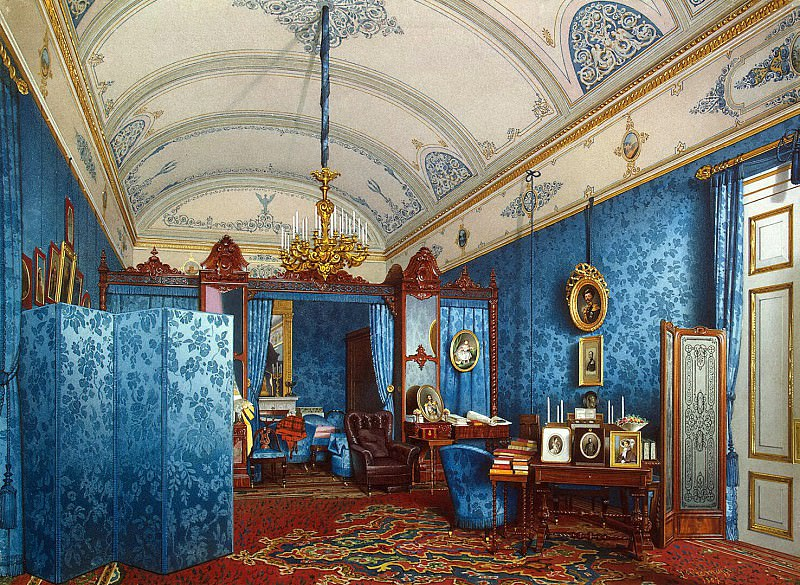 Premazzi, Luigi - Types of rooms of the Winter Palace. Dressing the Empress Maria Alexandrovna. Hermitage ~ part 10