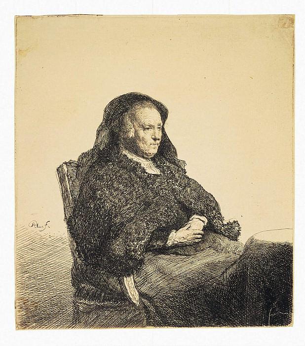 Рембрандт Харменс ван Рейн - Портрет матери Рембрандта, сидящей за столом. Эрмитаж ~ часть 10