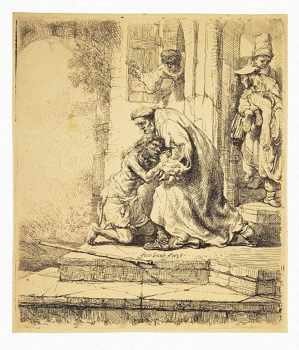 Rembrandt, Harmenszoon van Rijn - The Return of the Prodigal Son (2). Hermitage ~ part 10