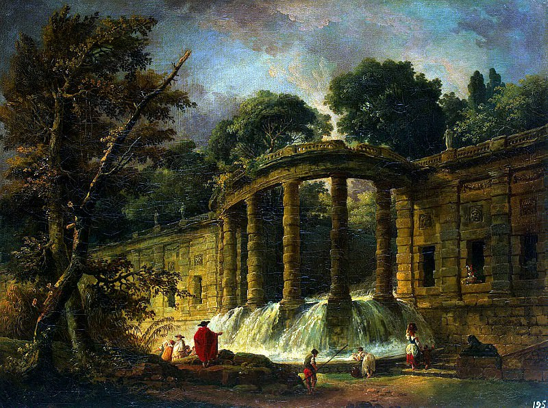 Robert, Hubert - Pavilion with a cascade. Hermitage ~ part 10